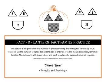 Fact-o-Lantern: Fact Family Practice
