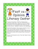 Fact or Opinion Center Sort