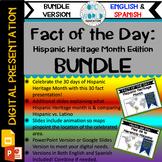 Fact of the Day- Celebrating Hispanic Heritage Month (ENGL
