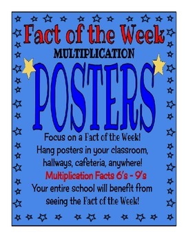 Fact of the Week Posters - Multiplication Posters for fact