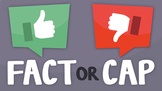 Fact or Cap- Secondary ELA Trivia Game for Video Conferencing