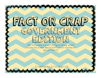 Fact or Crap! Government Edition