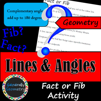Fact or Fib: Lines and Angles; Geometry