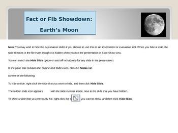 Fact or Fib Showdown: Earth's Moon