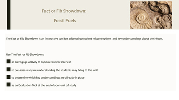 Fact or Fib Showdown: Fossil Fuels