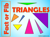 Fact or Fib Triangles Review - Animated PowerPoint