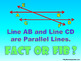 Fact or Fib Types of Lines - Powerpoint Parallel, Intersec
