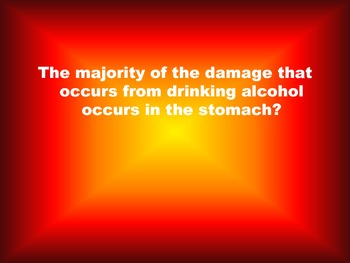 Fact or Fiction Alcohol Pre/Post Assessment