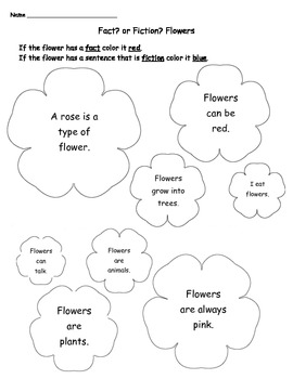 Fact or Fiction Coloring Sheet