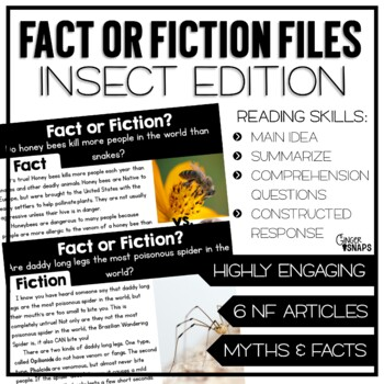 Fact or Fiction Files {Insect Edition}