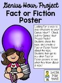 Fact or Fiction Poster for ANY Topic - Great for Genius Ho