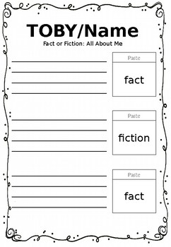 Fact or Fiction Tabs on Me!