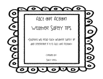 Fact or Fiction Weather Safety Tips Flipbook