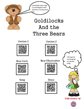 Fact or Fiction with Goldilocks & the Three Bears using QR Codes