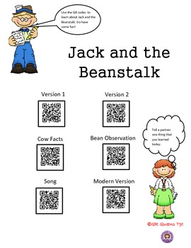 Jack and the Beanstalk using QR Codes Listening Center
