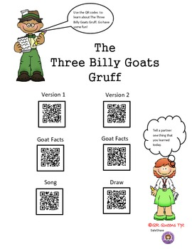 The Three Billy Goats Gruff using QR Codes