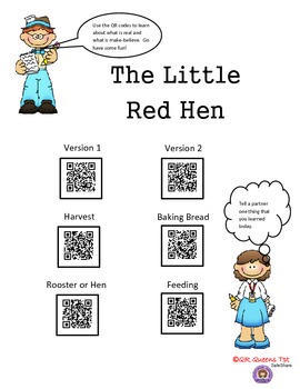 Fact or Fiction with The Little Red Hen using QR Codes