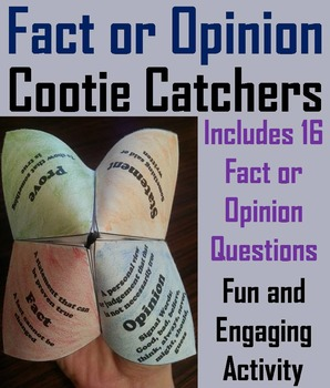 Fact and Opinion Activity 5th 4th 3rd Grade Reading Comprehension