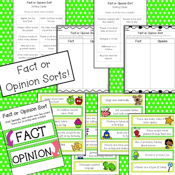 Fact or Opinion: Activities & Posters [MINI UNIT!]