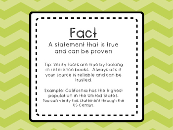 Fact or Opinion Activity Pack