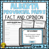 Fact or Opinion? Alberta Provincial Parks