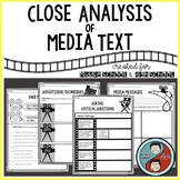 Close Analysis of Media Text Mini-Unit
