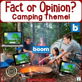 Fact or Opinion Camping Theme   BOOM Cards