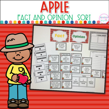 Fact or Opinion Cards- Apple Theme