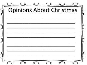 Fact or Opinion Center---Christmas Theme