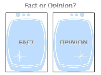 Fact or Opinion? - Center/Sorting activity Set 1