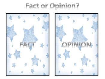 Fact or Opinion? - Center/Sorting activity Set 2