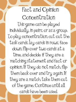 Fact or Opinion Concentration