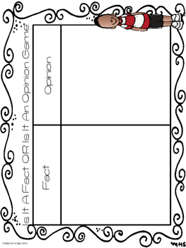 Fact or Opinion Differentiated Printables