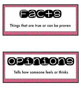 Fact or Opinion FREEBIE