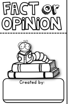 Fact or Opinion Flip Book