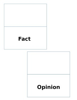 Fact or Opinion Foldable & Sorting Activity