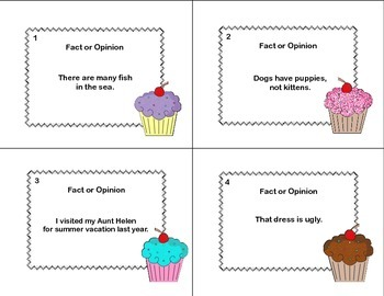 Fact or Opinion? Forty Task  Cards for Grades 2-3
