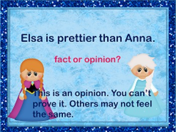 Fact or Opinion - Frozen