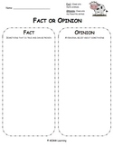 Fact or Opinion Graphic Organizer - Universal