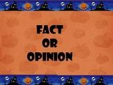 Fact or Opinion Halloween Theme