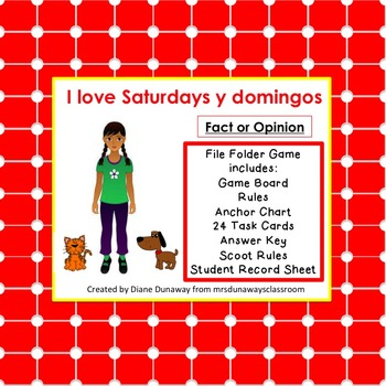 Fact or Opinion:  I Love Saturdays y domingos