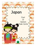 Fact or Opinion (Japan) Task Cards Center Activity
