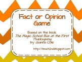 Fact or Opinion Magic School Bus at the First Thanksgiving