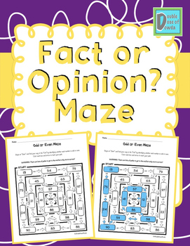 Fact or Opinion Maze