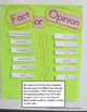 Fact or Opinion Anchor Chart for grades 1 & 2
