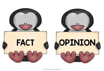 Fact or Opinion Sort Penguins   Penguin Activities   Winter Literacy Activity