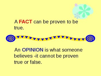 Fact or Opinion Power Point