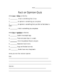 Fact or Opinion Quiz