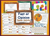 Fact or Opinion Reading Center Station Activity Game - FREE