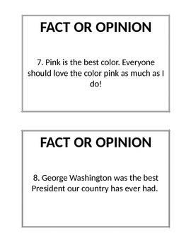 Fact or Opinion Scavenger Hunt